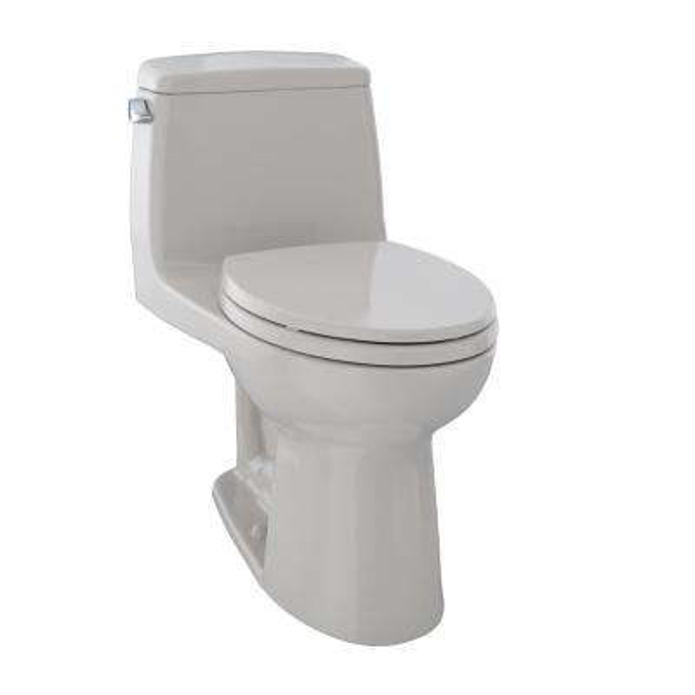 Eco UltraMax 1-Piece 1.28 GPF Single Flush Elongated Toilet in Sedona Beige
