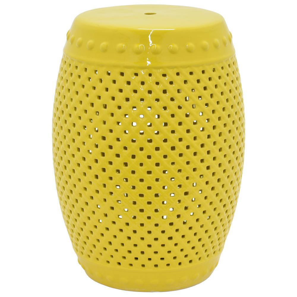Yellow Garden Stool