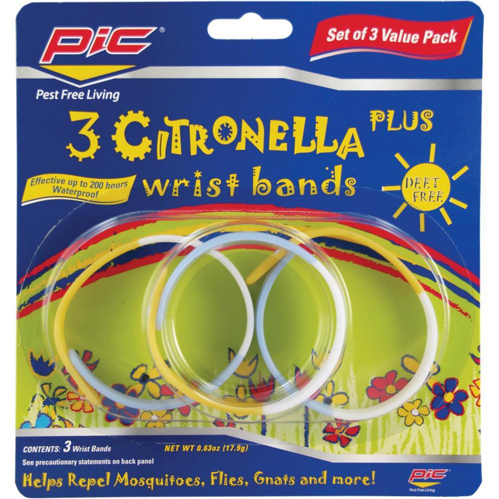 Citronella Plus Wristband (3-Pack)