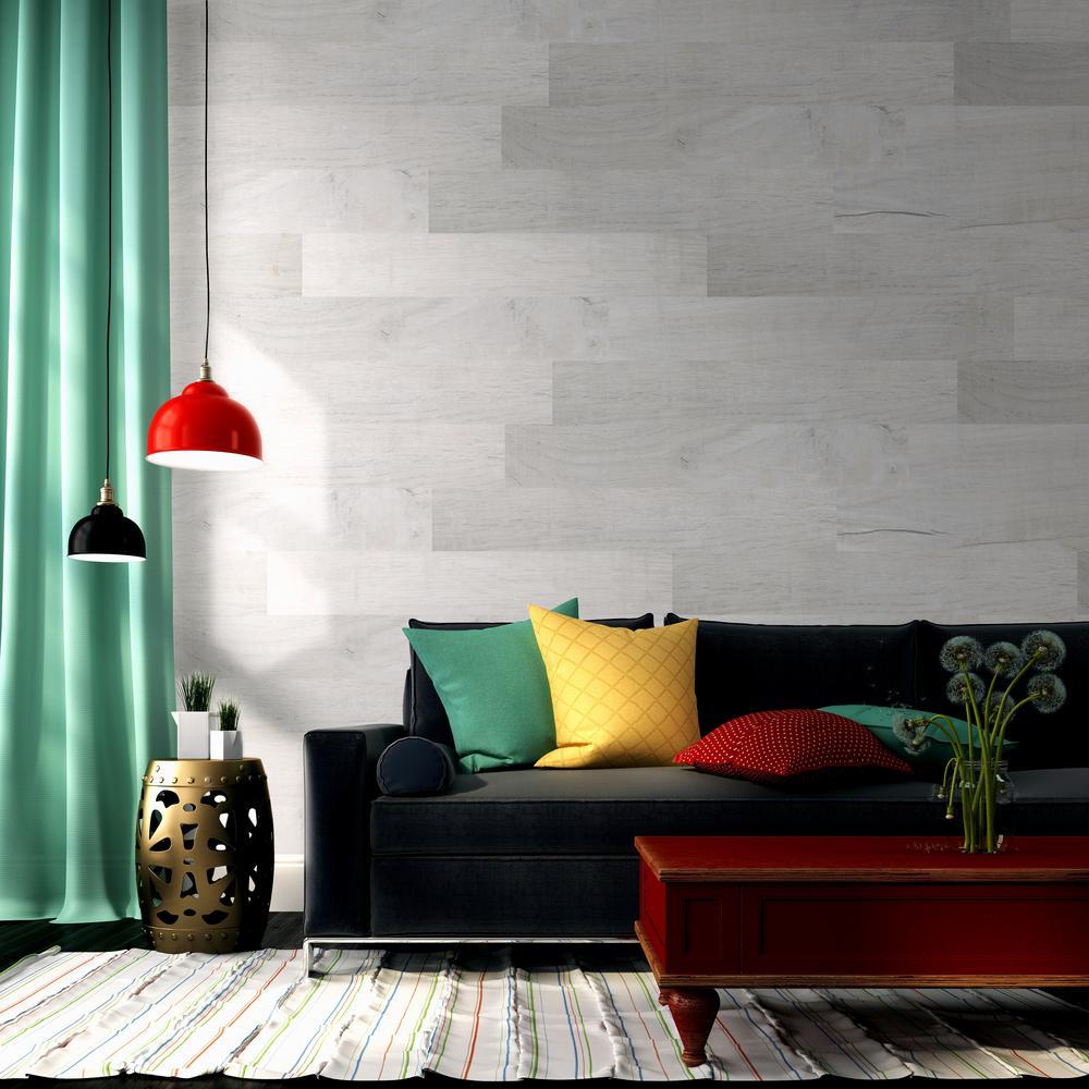 - 6 In. X 36 In. Scandinavian Oak Self Adhesive Wall Tile (14-Tiles