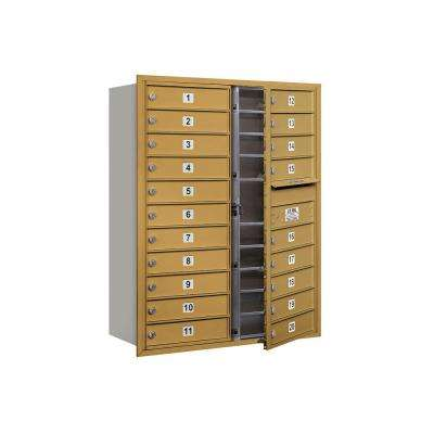 3700 Series 41 in. 11 Door High Unit Gold Private Front Loading 4C Horizontal Mailbox with 20 MB1 Doors