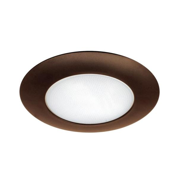 NICOR 6 in. Oil Rubbed Bronze Recessed Shower Trim with Albalite Lens