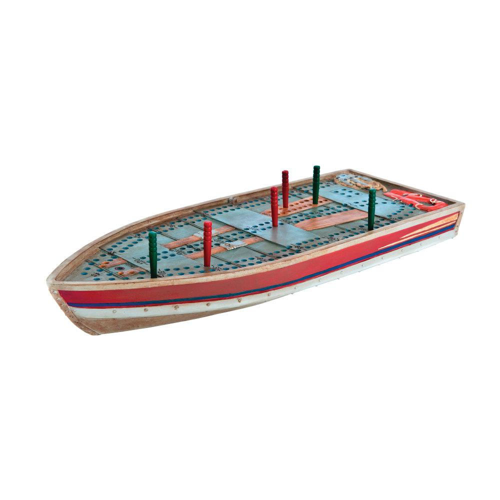 tin home decor.htm outside inside tin boat novelty cribbage board 99886 the home depot  tin boat novelty cribbage board 99886