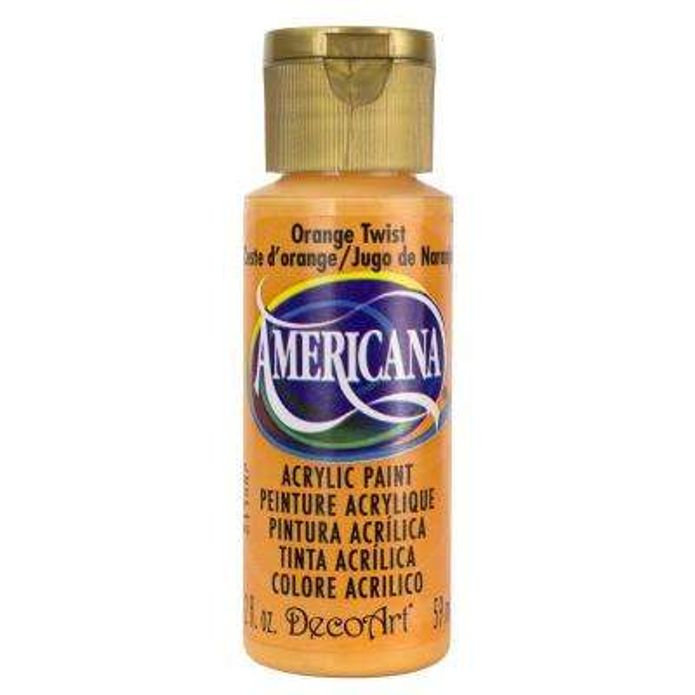 Americana 2 oz. Orange Twist Acrylic Paint