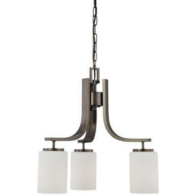 Pendenza 3-Light Oiled Bronze Hanging Chandelier