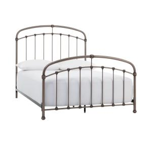 Home Decorators Collection Cloverly Pewter Metal King Bed Deals