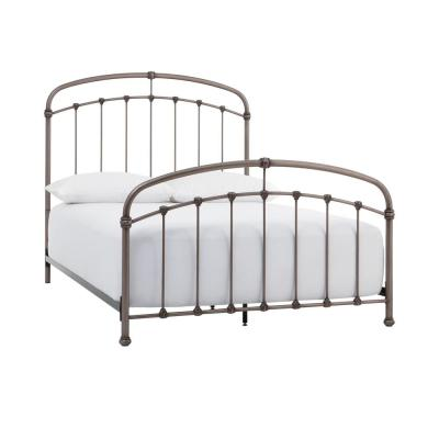 Cloverly Pewter Metal Queen Bed (61.75 in W. X 59 in H.)