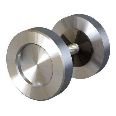 2 in. Stainless Steel 2-Sided Dual Mount Cabinet Knob for Wood or Glass Doors