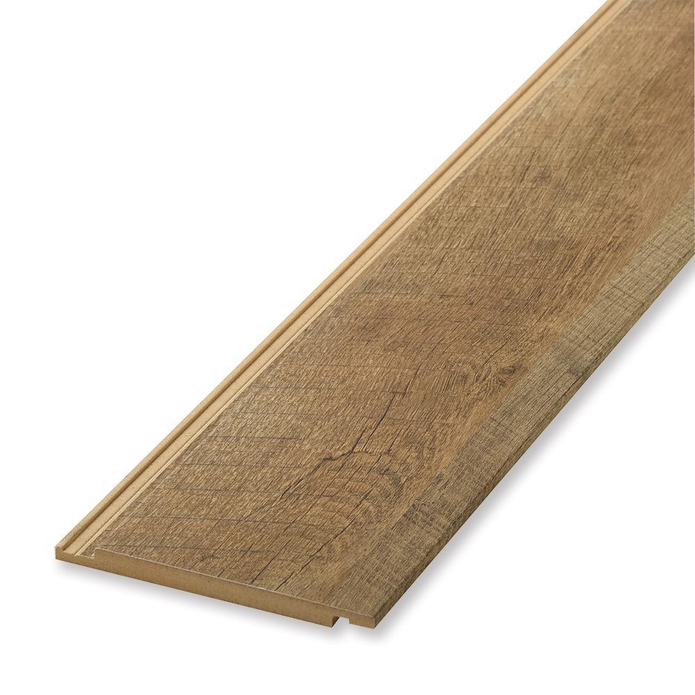 1 in. x 6 in. x 96 in. Rough Sawn Oak MDF Shiplap Panel