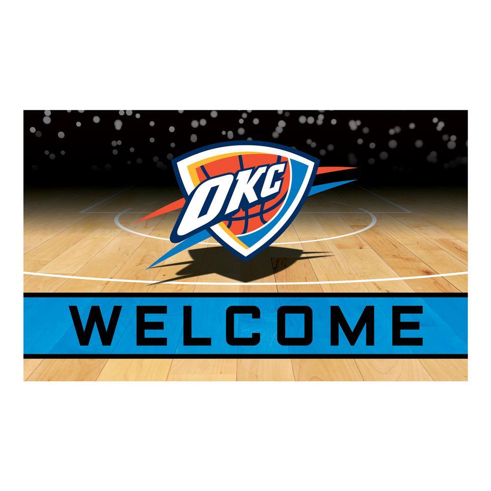 NBA - Oklahoma City Thunder 18 in. x 30 in. Rubber Door Mat