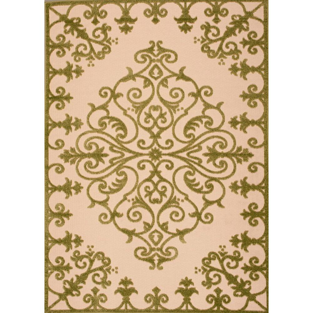 Indoor Outdoor Rugs Home Depot: Nourison Aloha Green 7 Ft. 10 In. X 10 Ft. 6 In. Indoor