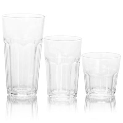 3-Different Sizes Glassware Set (Set of 18)