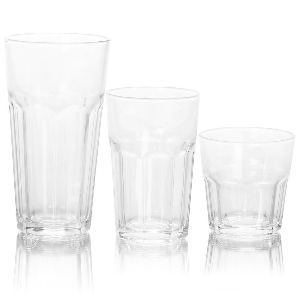 3-Different Sizes Glassware Set (Set of 18)