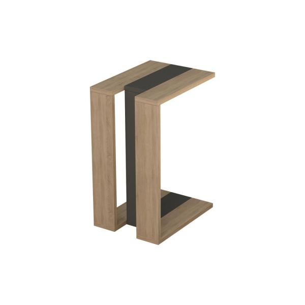 Ada Home Decor Stanley Oak and Anthracite Modern Side Table