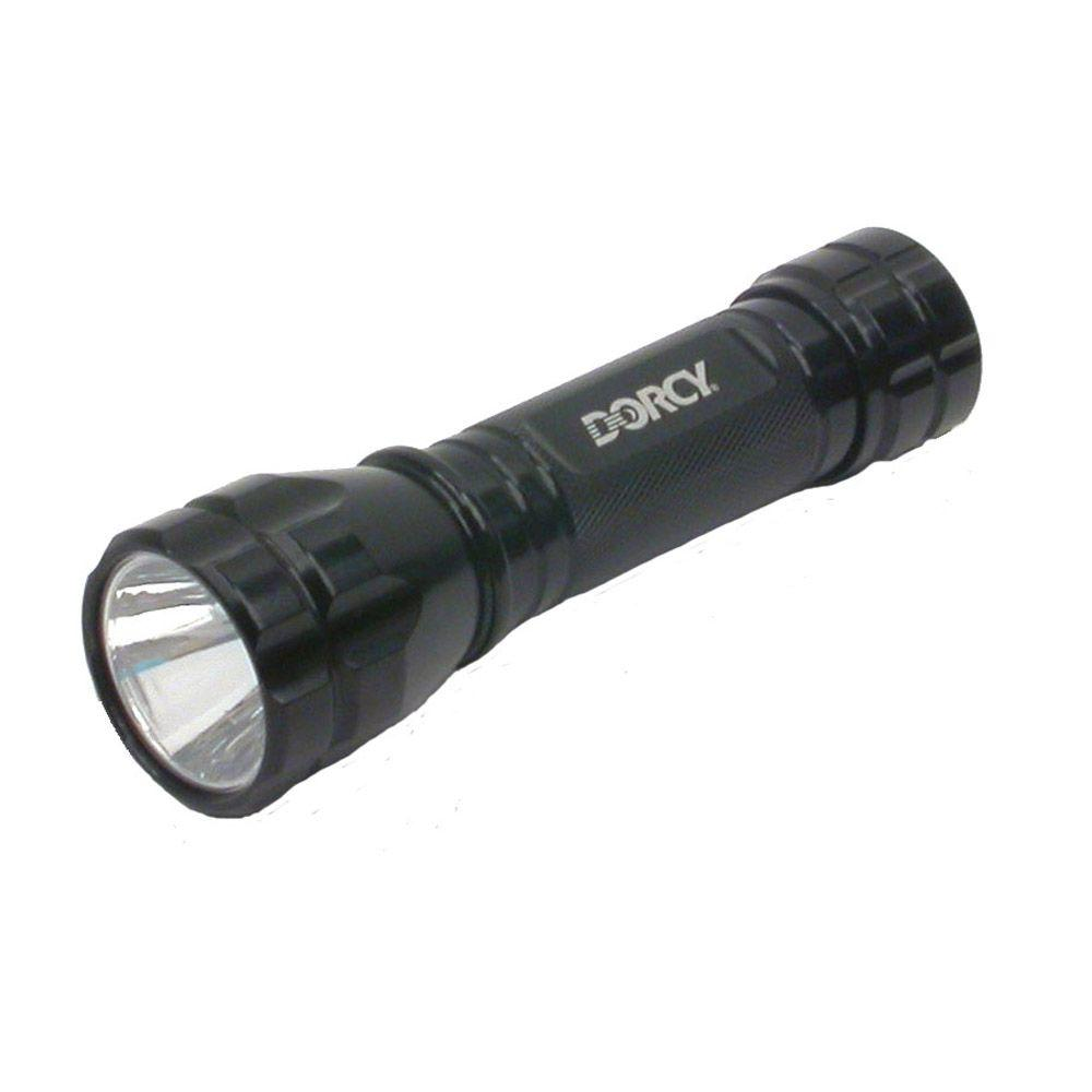 Dorcy 200 Lumen 3AAA Cree LED Aluminum Tactical Tail Cap Flashlight with Battery