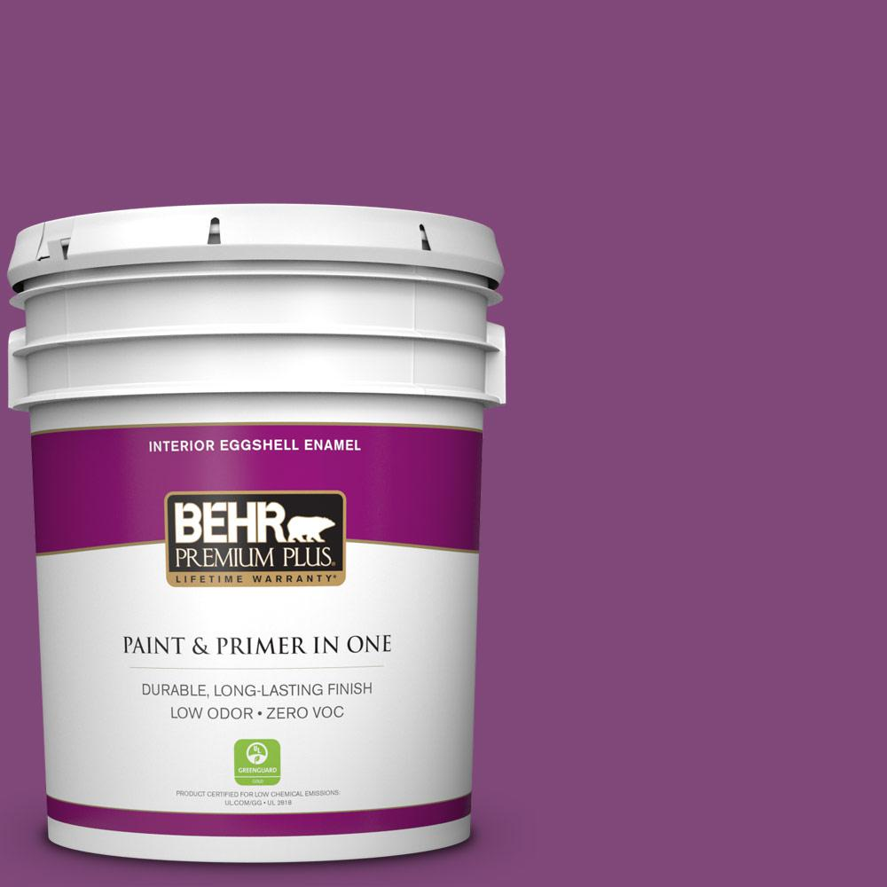 BEHR Premium Plus 5-gal. #T15-12 Graphic Grape Zero VOC Eggshell Enamel Interior Paint