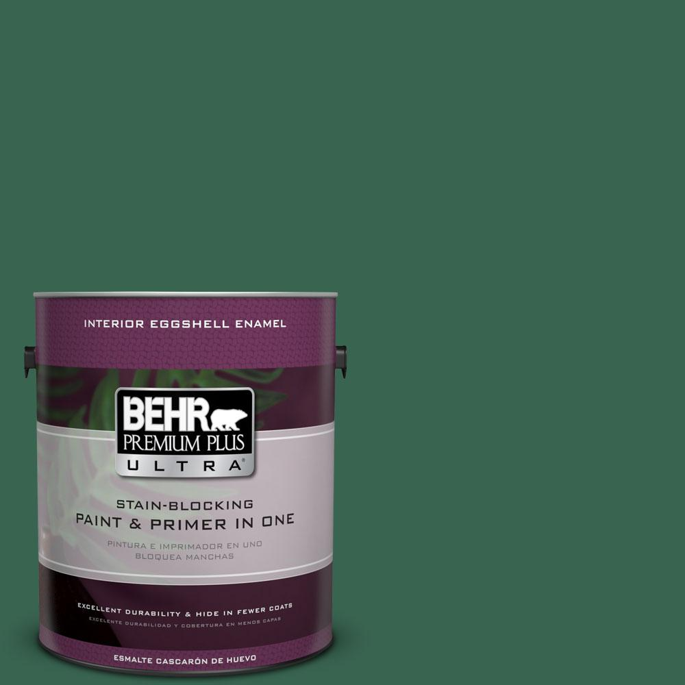 BEHR Premium Plus Ultra 1-gal. #480D-7 Isle of Pines Eggshell Enamel Interior Paint