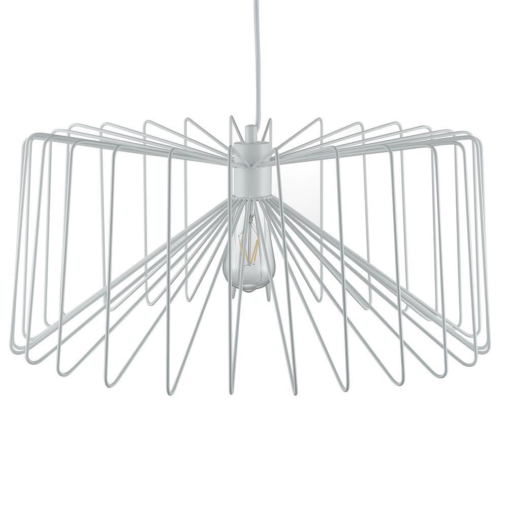 Southern Enterprises Pepe 1-Light White Pendant Lamp was $149.99 now $60.03 (60.0% off)