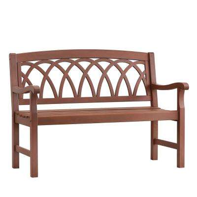 Verdon Gorge 47 in. Brown Wood Outdoor Bench