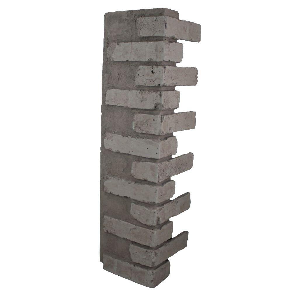 Greystone 32-1/2 in. x 9-3/4 in. x 8-1/8 in. Faux Reclaimed Brick Outside Corner