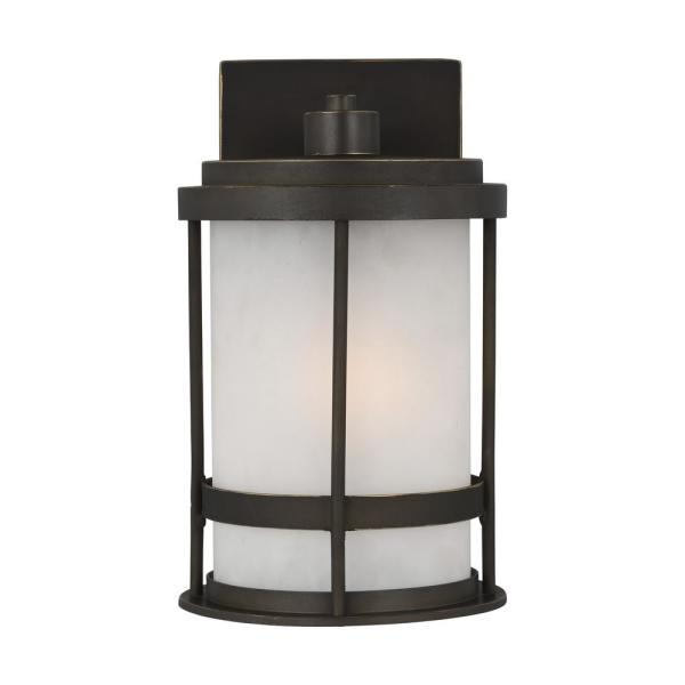 Wilburn 1-Light Antique Bronze Outdoor Wall Lantern