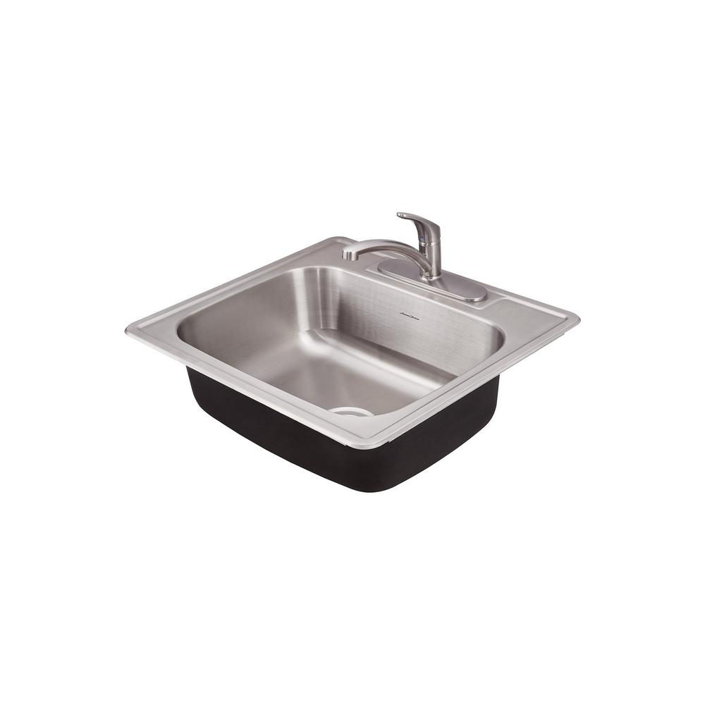 American Standard Colony Pro Drop-in Stainless Steel 25 in. 1-Hole ...