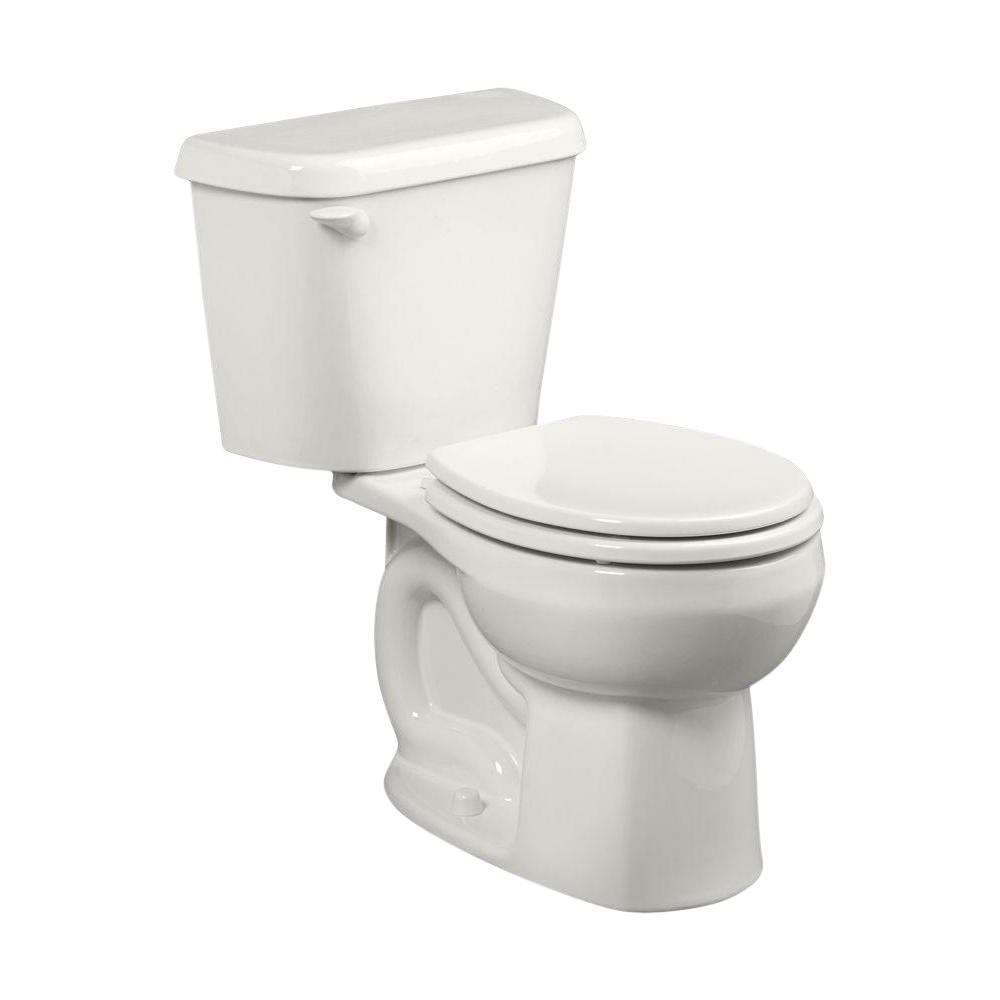 American Standard Colony 2-Piece 1.28 GPF Single Flush Round Toilet in White, Seat Not Included