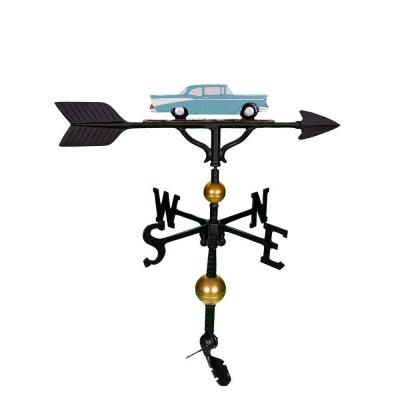 32 in. Deluxe Teal Classic Car Weathervane