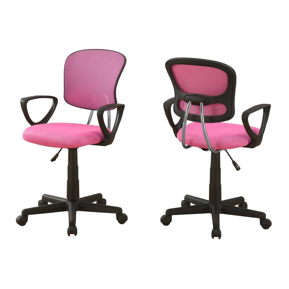 Internet 300620256 Monarch Pink Multi Position Kids Office Chair