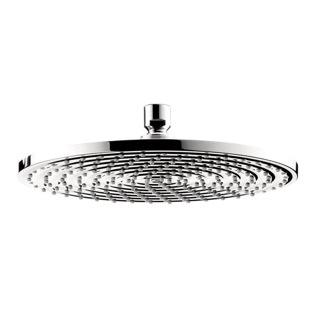 Hansgrohe Hansgrohe 1-Spray 10 in. Single Wall Mount Fixed Rain Shower Head in Chrome, Grey