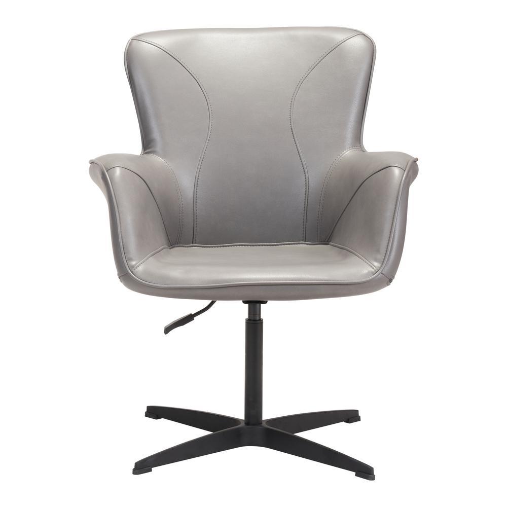 Terrific Zuo Alain Gray Arm Chair 101150 The Home Depot Evergreenethics Interior Chair Design Evergreenethicsorg