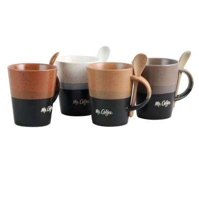 Caf Greco 14 oz. Assorted Color Coffee Mugs (Set of 4)