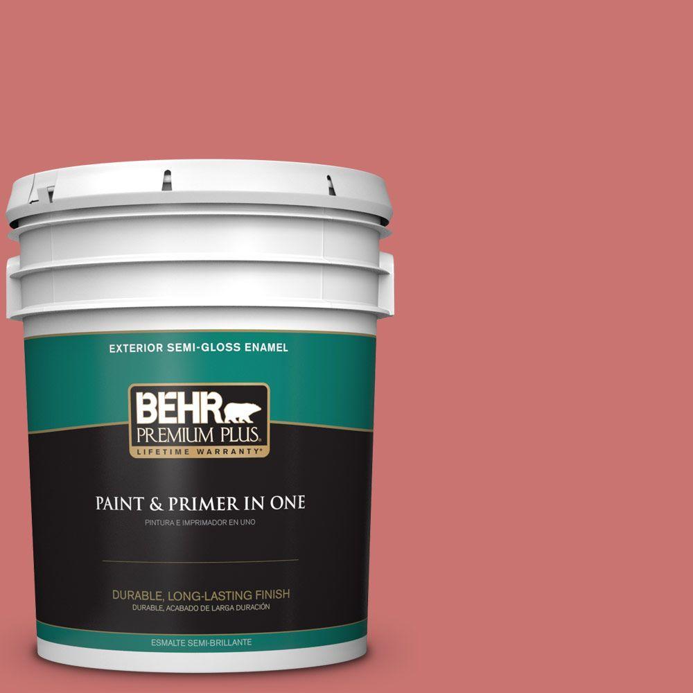 BEHR Premium Plus 5-gal. #160D-5 Lovable Semi-Gloss Enamel Exterior Paint