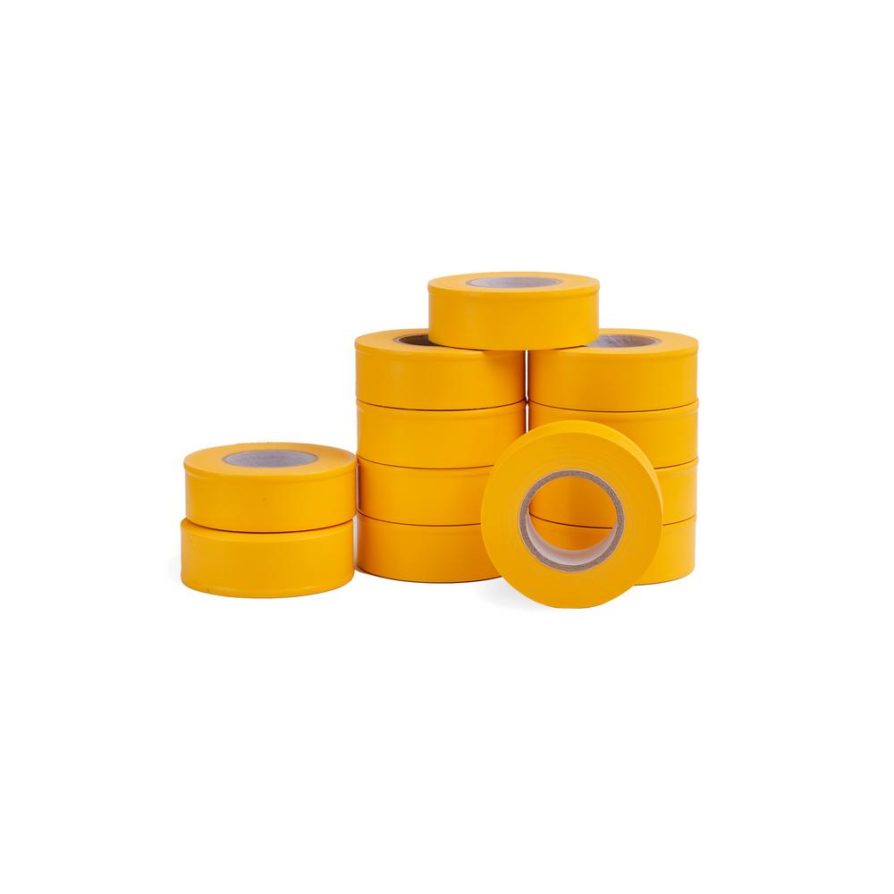AdirPro 1 in. x 150 ft. Fluorescent Yellow Flagging Tape (12-Pack)