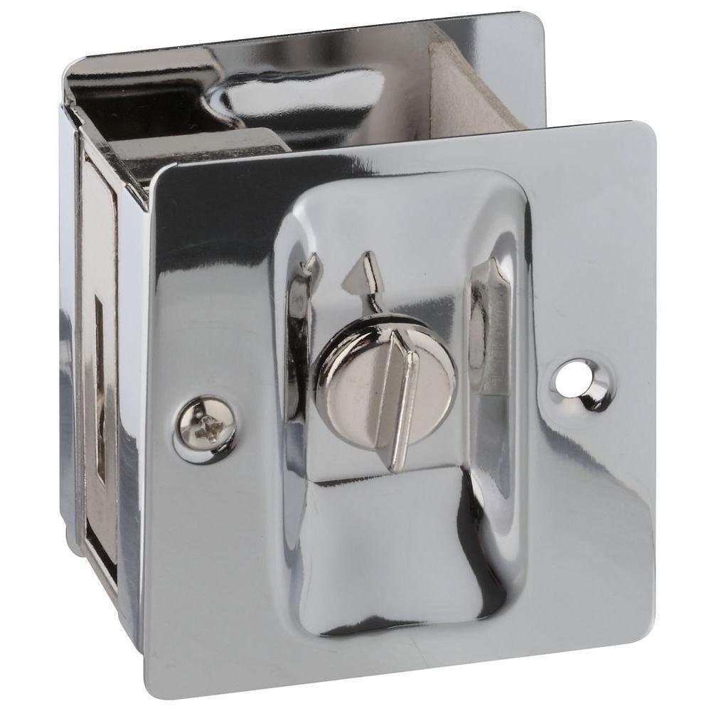 Chrome Pocket Door Latch