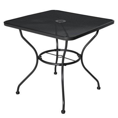 Cantabria Black Square Steel Outdoor Dining Table