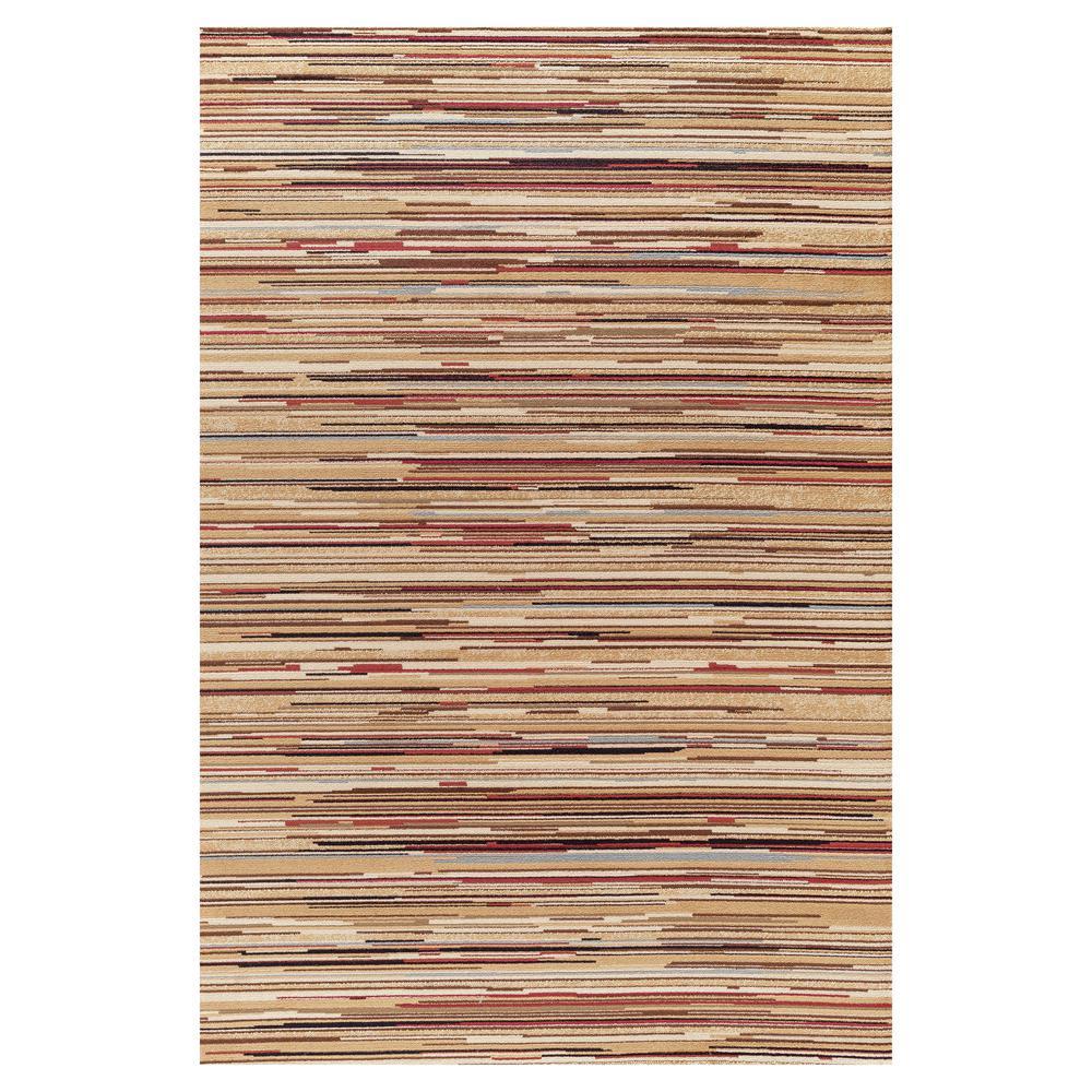 Jewel Striation Stripes Multi 7 ft. 10 in. x 9 ft.