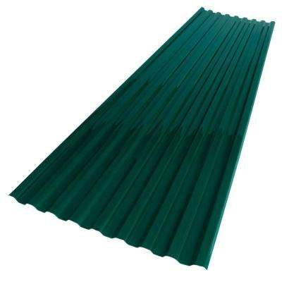 26 in. x 6 ft. Hunter Green Polycarbonate Roof Panel
