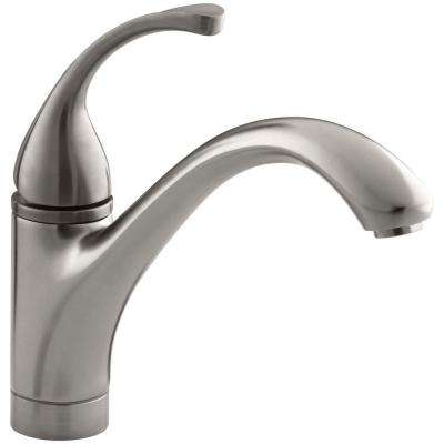 Forte Single-Handle Standard Kitchen Faucet with Lever Handle in Vibrant Stainless