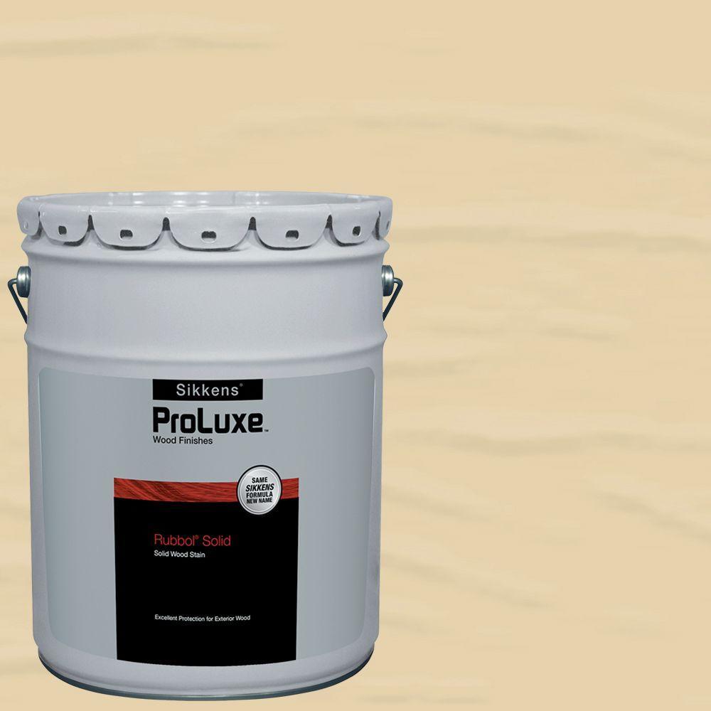 Sikkens ProLuxe 5-gal. #HDGSIK710-231 Navajo White Rubbol Solid Wood Stain, Whites -  HDGSIK710500-231-05