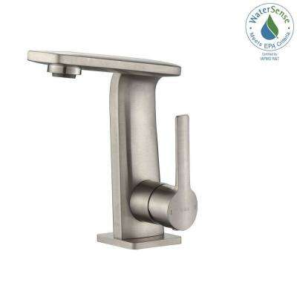 Novus Single Hole Single-Handle Mid-Arc Bathroom Faucet in Brushed Nickel