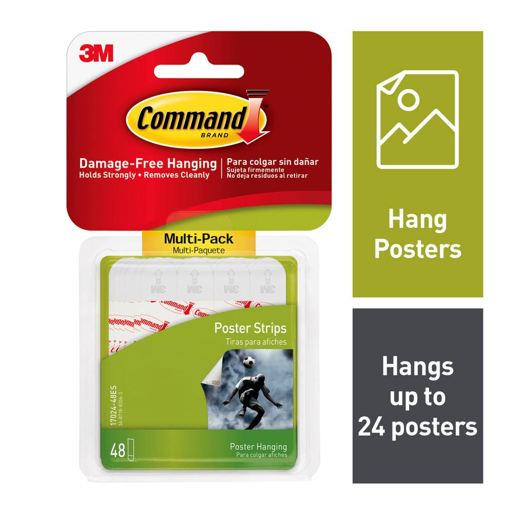 Command Poster Strips Value Pack (48-Pack)