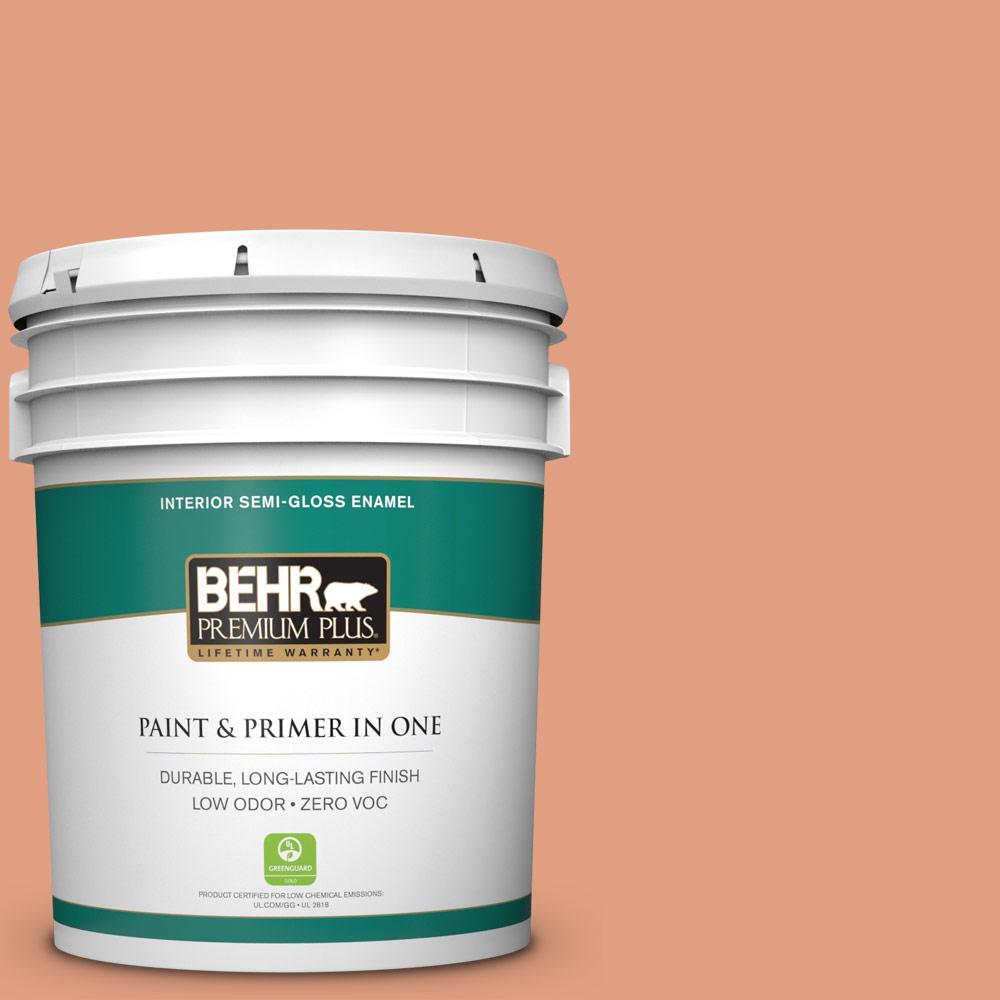 5-gal. #230D-4 Pecos Spice Zero VOC Semi-Gloss Enamel Interior Paint