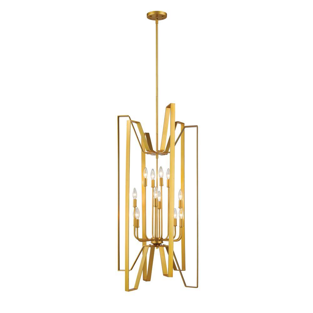 Melina 12-Light Polished Metallic Gold Pendant