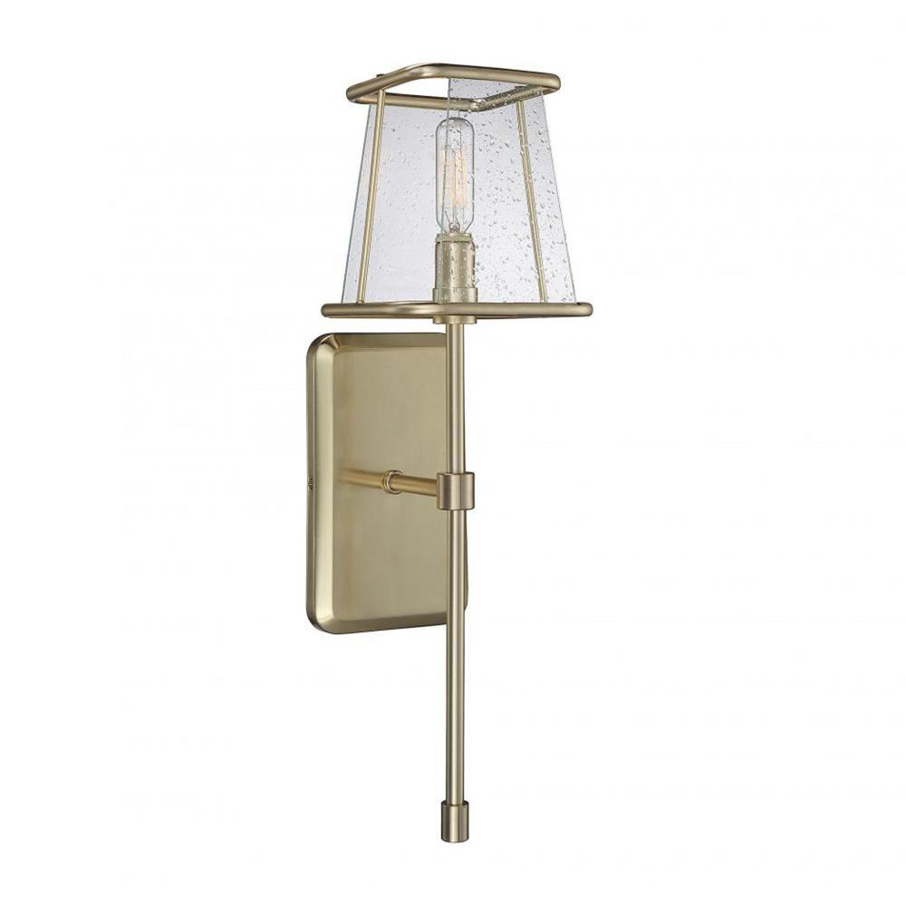 Mabel 1-Light Warm Brass Outdoor Wall Mount Sconce