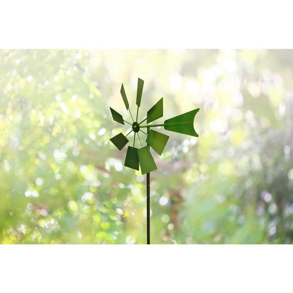 52 in. Green Metal Windmill Stake
