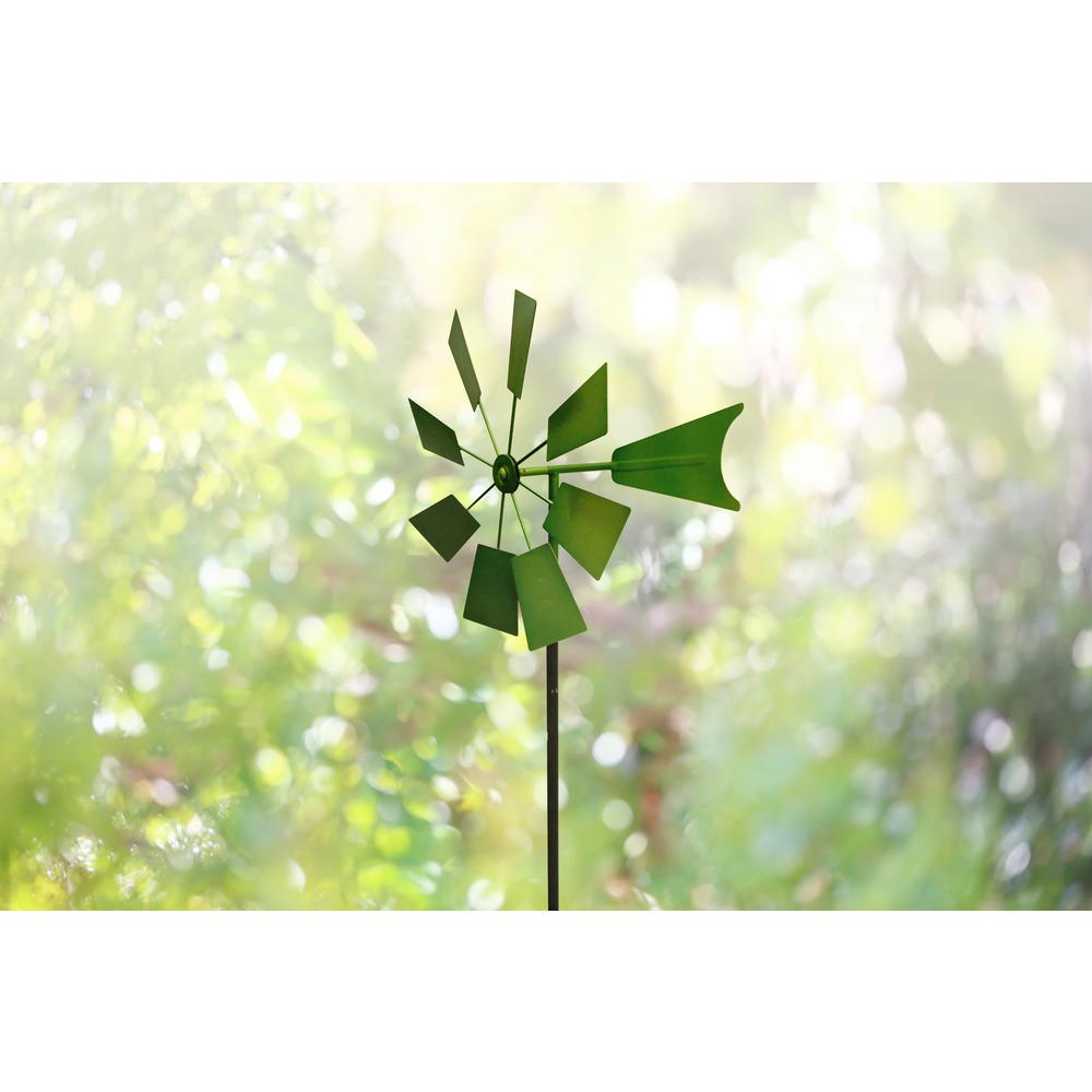 52 in. Green Metal Windmill Stake