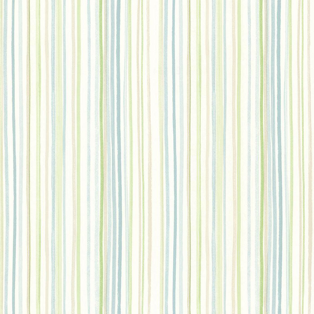 Lanata Teal Stripe Wallpaper