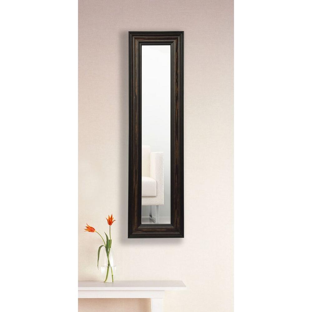 8 in. x 34 in. American Walnut Vanity Mirror Single Panel