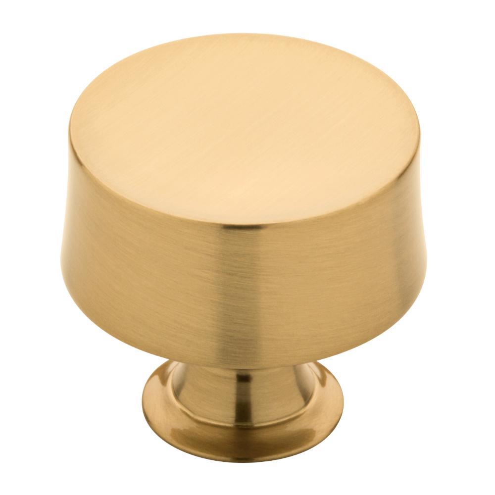 Drum 1-1/4 in. (32mm) Champagne Bronze Round Cabinet Knob
